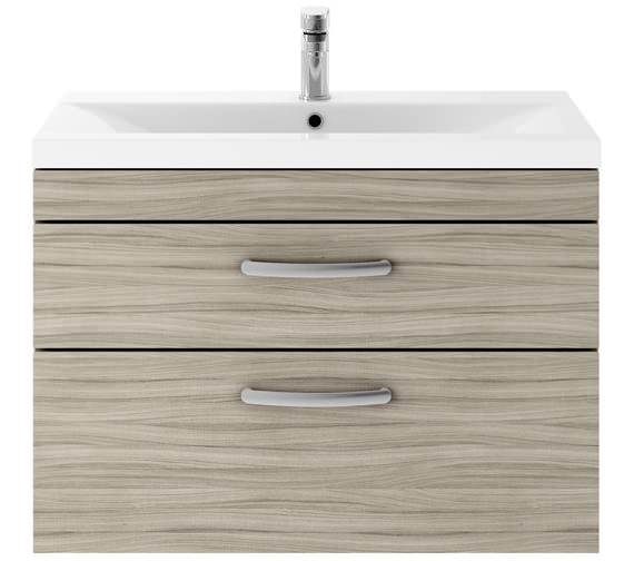 Additional image of Premier Athena 800mm 2 Drawer Wall Hung Cabinet With Basin 2 Gloss White Finish