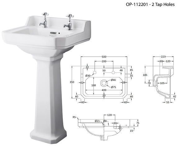 Additional image of Bayswater Fitzroy Wall Hung Basin