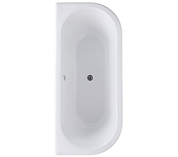 Bayswater Courtnell 1700mm Double Ended Back To Wall Freestanding Bath