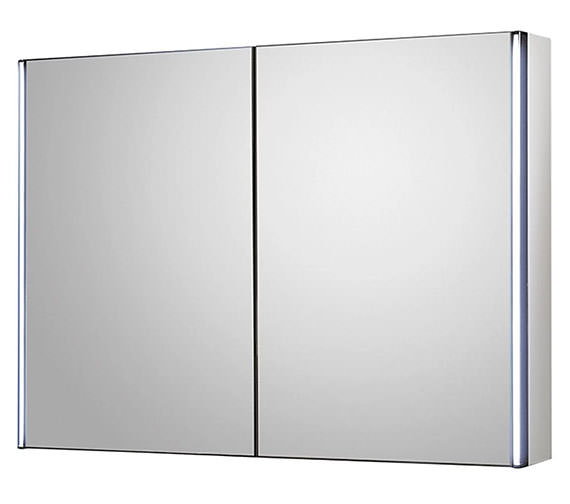 Hudson Reed Meloso 800 x 600mm Silver Mirror Cabinet