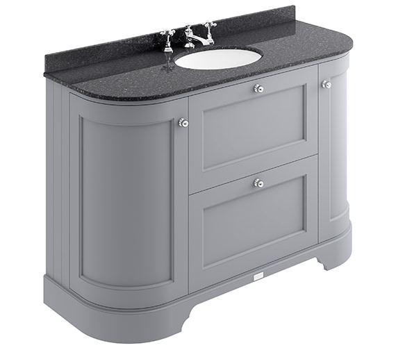 Additional image of Bayswater 1200mm Pointing White 2 Drawer And Curved Door Basin Cabinet