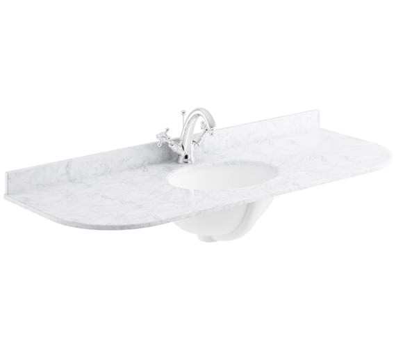 Additional image of Bayswater 1200mm Black Curved Marble Top Single Bowl Basin With 1 Taphole