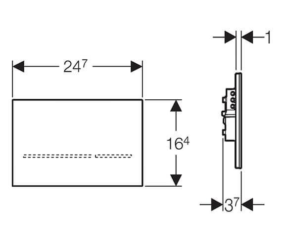 Technical drawing QS-V93582 / 116.092.SG.1