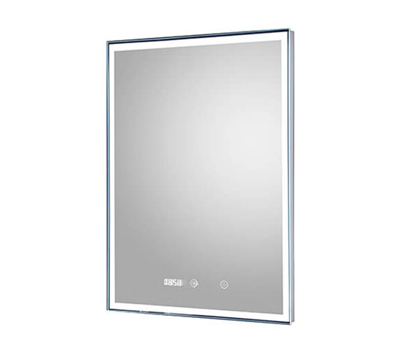 Hudson Reed Lustre  500 x 700mm LED Mirror Glass With Digital Clock
