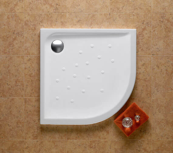 Roca Malta 1100 x 1100mm Quadrant Shower Tray With Anti-Slip Base