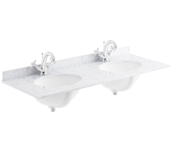 Additional image of Bayswater 1200mm Marble Top Double Bowl Basin