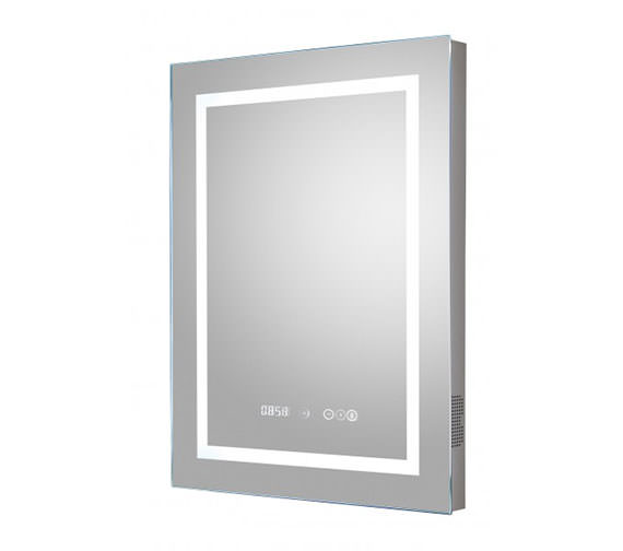 Hudson Reed Prisma 500 x 700mm LED Mirror With Bluetooth And Demister Pad