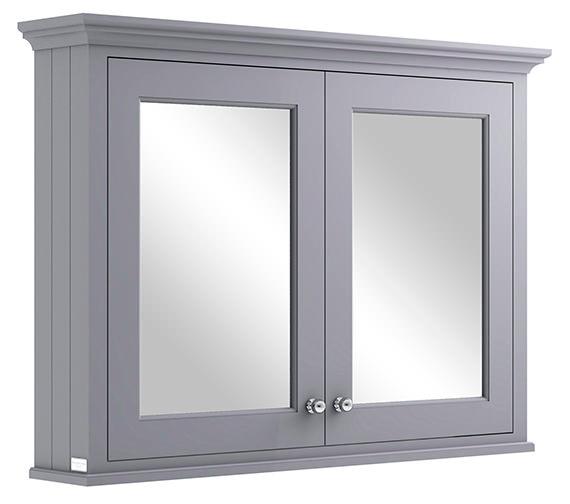 Bayswater 1050mm Plummett Grey Wall Mounted Mirror Cabinet