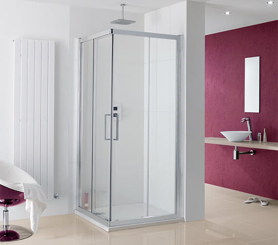 Lakes Coastline Malmo Offset Corner Entry Shower Enclosure 800 x 1000mm