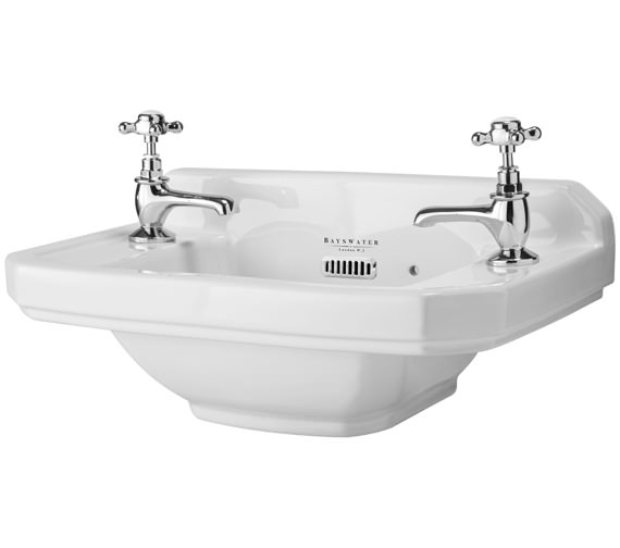 Bayswater Fitzroy 515mm Cloakroom Basin With 2 Taphole