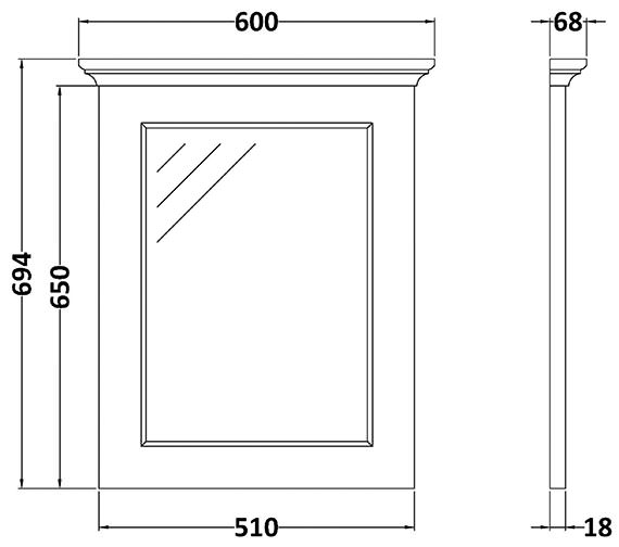 Technical drawing QS-V89197 / BAYF124