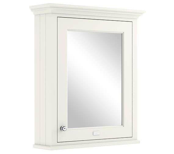 Bayswater Pointing White 600mm Wall Mounted Mirror Cabinet
