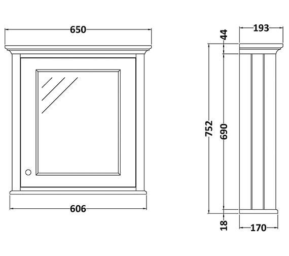 Technical drawing QS-V89198 / BAYF130