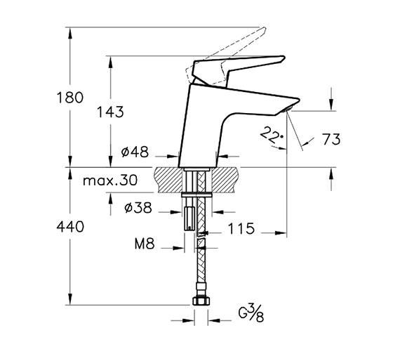 Technical drawing QS-V90525 / A42440VUK