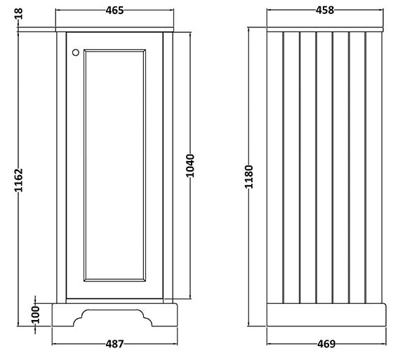 Technical drawing QS-V89194 / BAYF118