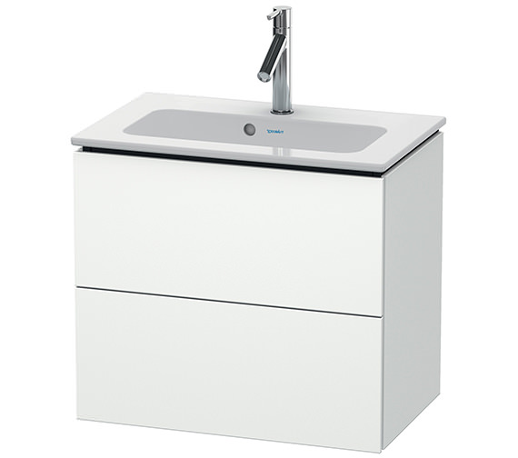 Duravit L-Cube Wall Mounted 2 Drawer Compact Vanity Unit For Me By Starck Basin