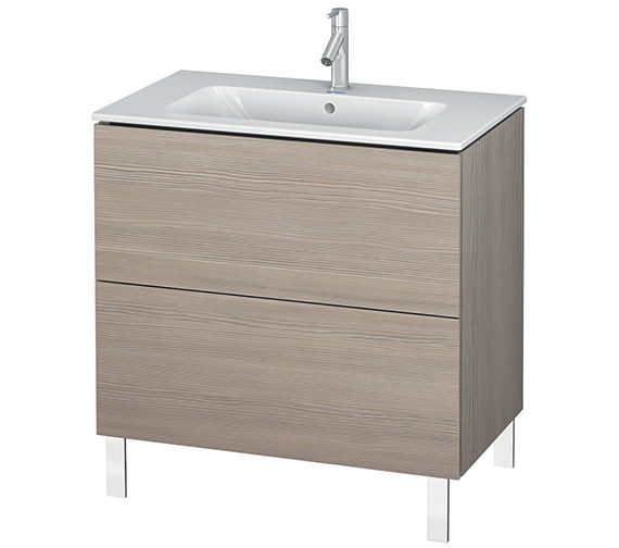 Additional image of Duravit L-Cube 820mm Floor Standing Vanity Unit With Me By Starck Basin