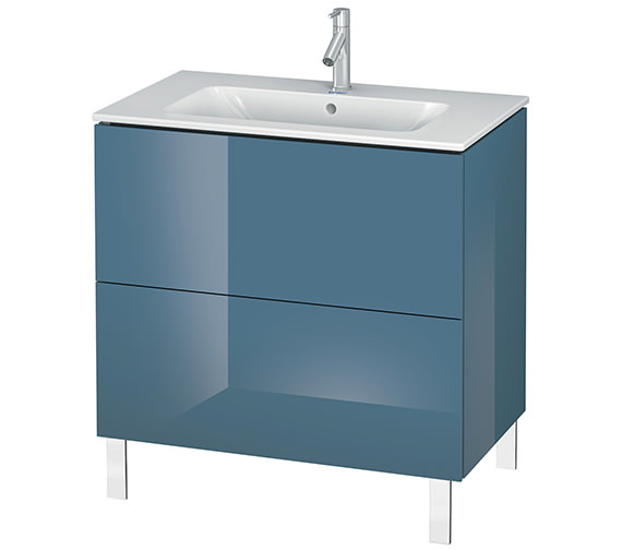 Alternate image of Duravit L-Cube 820mm Floor Standing Vanity Unit With Me By Starck Basin