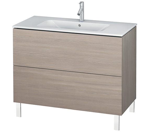 Additional image of Duravit L-Cube 1020mm Floor Standing Vanity Unit With Me By Starck Basin