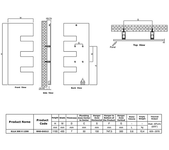 Technical drawing QS-V81044 / RND-EA512W