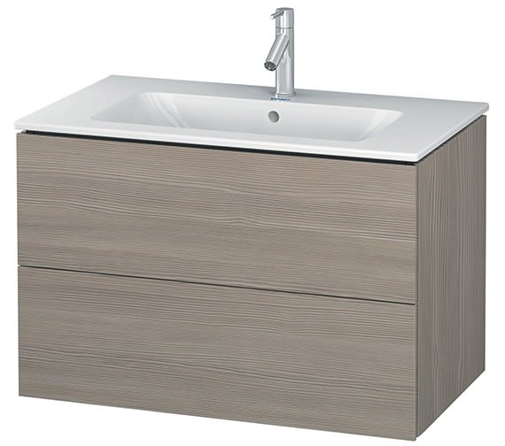 Additional image of Duravit L-Cube 820mm White Matt 2 Drawers Vanity Unit With Me By Starck Basin