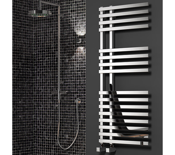 Reina Felino Chrome 500mm Wide Steel Designer Radiator