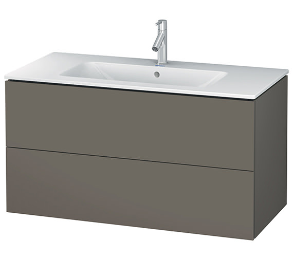 Alternate image of Duravit L-Cube 1020mm White Matt 2 Drawers Vanity Unit With Me By Starck Basin