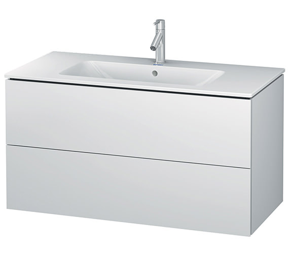 Duravit L-Cube 1020mm White Matt 2 Drawers Vanity Unit With Me By Starck Basin