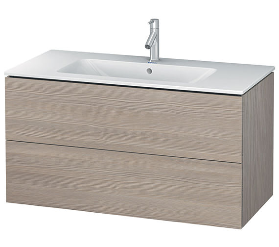 Additional image of Duravit L-Cube 1020mm White Matt 2 Drawers Vanity Unit With Me By Starck Basin