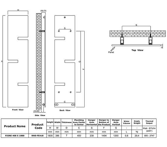 Technical drawing QS-V81045 / RND-FE4180A
