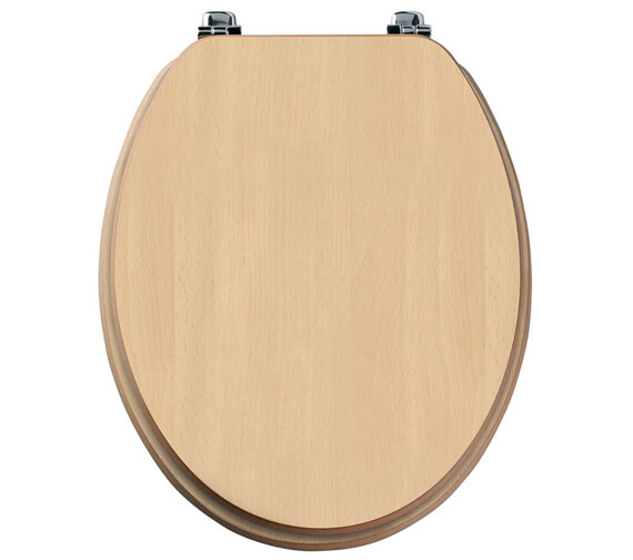 Alternate image of Tavistock Millennium Wood Veneer Toilet Seat Mahogany