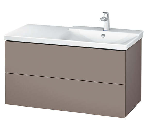 Additional image of Duravit L-Cube 1020mm Vanity Unit With P3 Comforts Basin - Bowl On Right