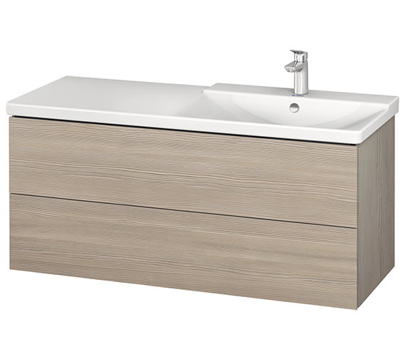 Additional image of Duravit L-Cube 1220mm Vanity Unit With P3 Comforts Basin - Bowl On Right