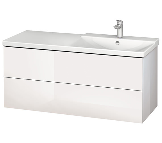 Alternate image of Duravit L-Cube 1220mm Vanity Unit With P3 Comforts Basin - Bowl On Right