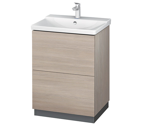 Additional image of Duravit L-Cube 620mm Floor Standing Vanity Unit With Plinth Panel