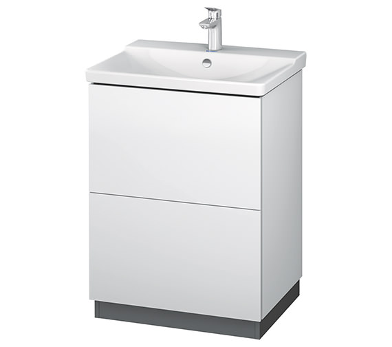 Duravit L-Cube 620mm Floor Standing Vanity Unit With Plinth Panel