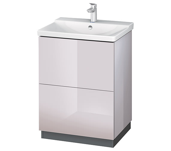 Alternate image of Duravit L-Cube 620mm Floor Standing Vanity Unit With Plinth Panel