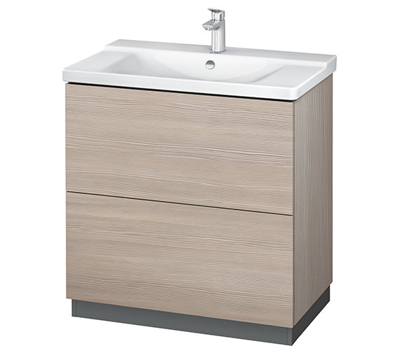 Additional image of Duravit L-Cube 820mm Floor Standing Vanity Unit With Plinth Panel
