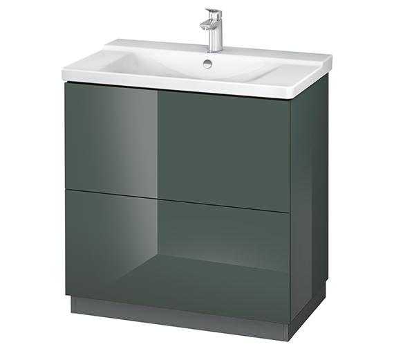 Alternate image of Duravit L-Cube 820mm Floor Standing Vanity Unit With Plinth Panel