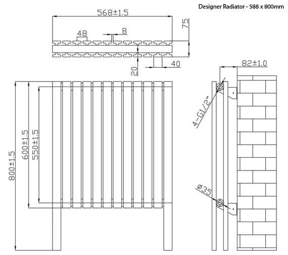 Technical drawing QS-V6642 / RA360
