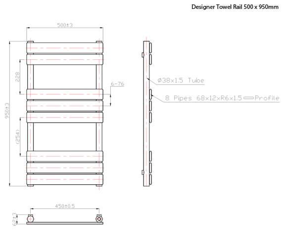 Technical drawing QS-V60450 / RA011