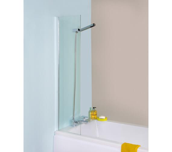 Premier 350mm Fixed Straight Bath Screen