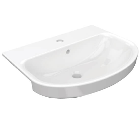 Pura Alma 560mm Semi Countertop Basin With 1 Tap Hole