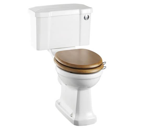 Burlington Rimless Close Coupled WC Pan And 51cm Front Push Button Cistern