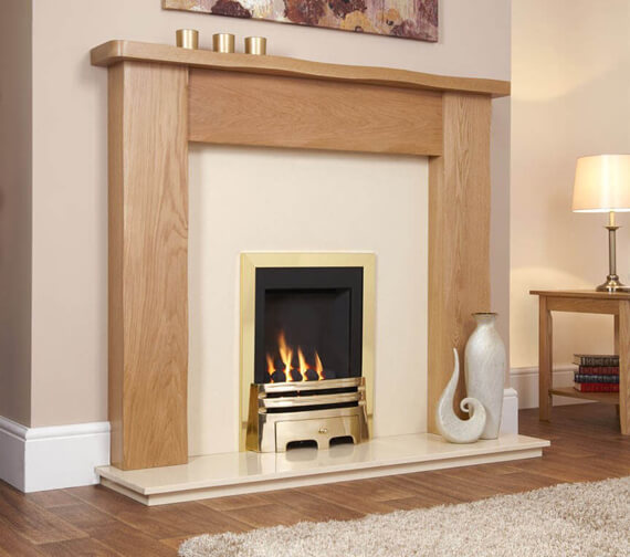 Additional image of Flavel Windsor Manual Control Classic Inset Gas Fire Silver