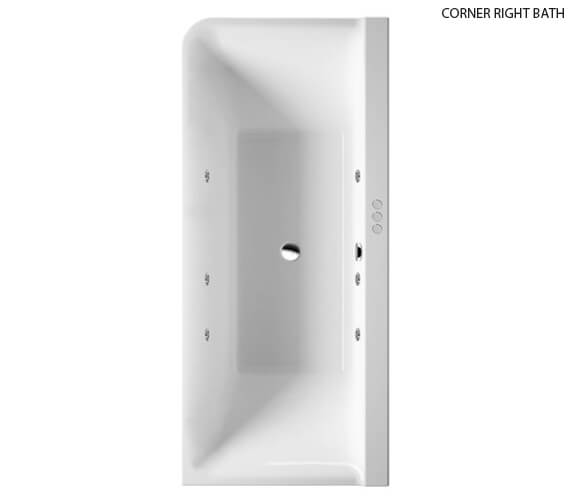 Additional image of Duravit P3 Comforts 1800x800mm Corner Left Bath With Panel - Jet System