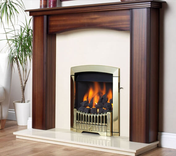 Flavel Rhapsody Slide Control Natural Gas Fire Brass Finish