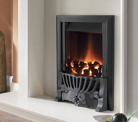 Flavel Warwick Manual Control Traditional Gas Fire Black
