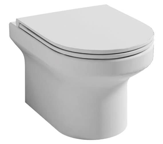 Pura Alma 500mm Rimless Wall Hung WC Pan