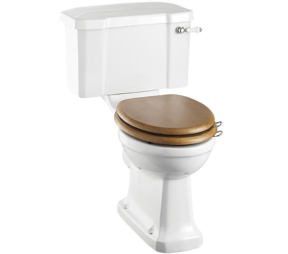 Burlington Slimline Closed Coupled WC Pan With Ceramic Lever Cistern